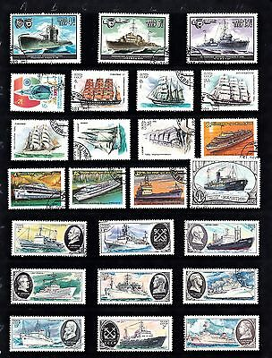 BOATS SHIPS Thematic STAMP COLLECTION Used Ref:TH579J