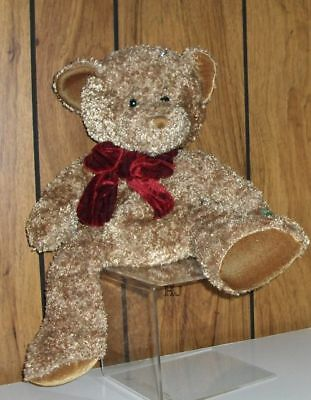 """Russ Berrie Teddy """" Chips """"handcrafted-Surface Washable"""
