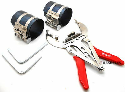 3PC Piston Ring Compressor Ratchet Style and Piston Ring Installer Pliers SET