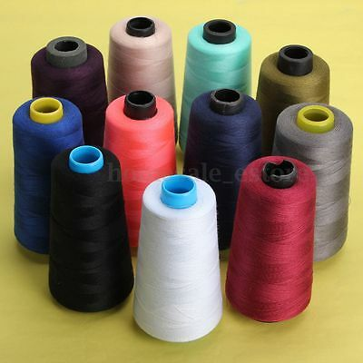 11 Colors 3000 Yards Industrial Overlocking Sewing Machine Polyester Thread