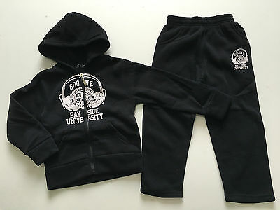 BNWT Boys Girls Groove Bay Side Cosy Tracksuit Blue Grey Black Ages 3-4