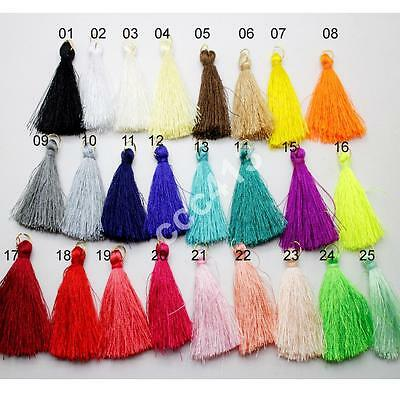25pcs High Quality Silky Road Tassels with Gold Jump ring Jewelry Accessory