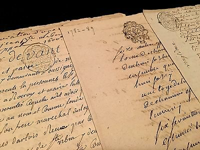 LOT OF ANTIQUE PAPERS 1700s