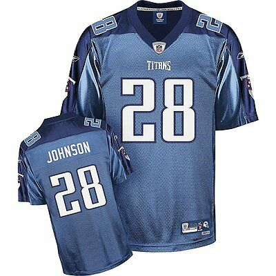 NFL Football Premier Trikot Jersey TENNESSEE TITANS Chris Johnson 28 blau