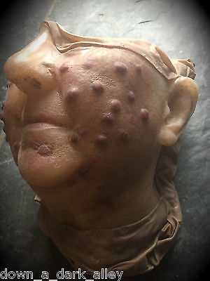Antique Wax Moulage of a Woman with a Skin Disease - Gothic Cabinet of Curiosity
