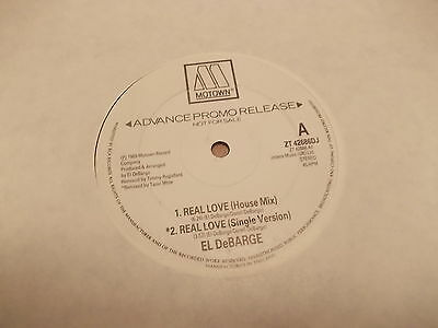 "El Debarge-Real love-1989 12"" Single PROMO"