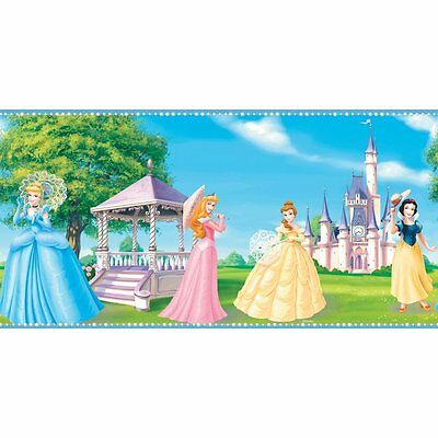 Disney Princesses Pink Trim Wallpaper Border; Prepasted