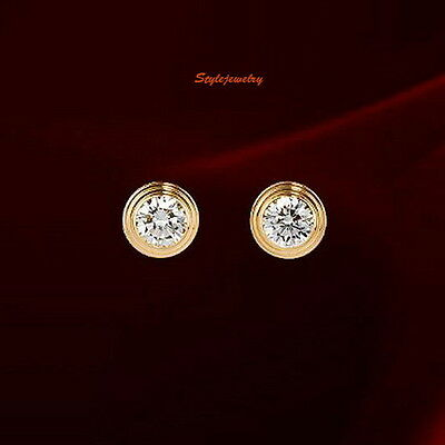 Rose Gold Fill Brilliant Cut Round Stud Earring Made With Swarovski Crystal XE45