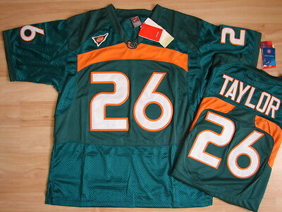 NCAA Authentic College Jersey/Trikot MIAMI HURRICANES Sean Taylor #26 aqua