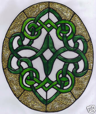 celtic knot window cling