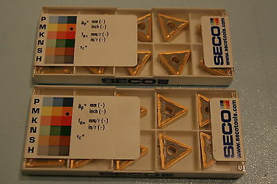 Seco Carbide Insert - TNMG 160408-M5 ( TP40 ) 2 BOXES (20 Inserts)