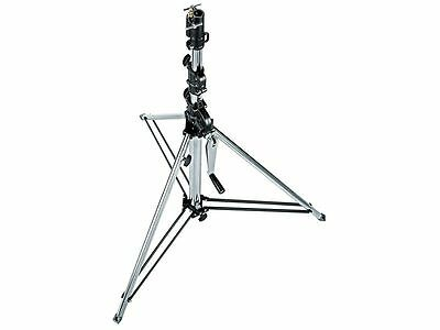 Manfrotto 087NWSH Stativ Wind-Up kurz Silber 3-teilig