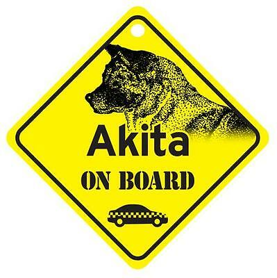 Akita On Board Dog Window Sign Made in USA