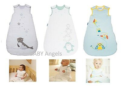 Winter Grobag Baby Sleeping Bag 3.5 Tog Boy & Girl Designs Size 0/6  6/18 18/36