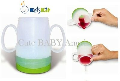 Kids Kit Training Drinking Cup Non-Spill Baby Weaning Mug - Reduces Chocking