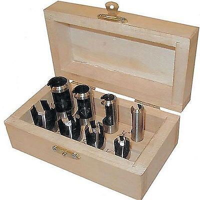 CMT 40458 - Wood Plug Cutter Set 8Pc with Storage Box Great Woodworking Tool