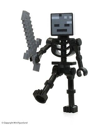 LEGO Minecraft MiniFigure - Wither Skeleton (From Set 21126)