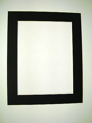 Picture Framing Mats 8x10 for 6x8 photo Black rectangle opening
