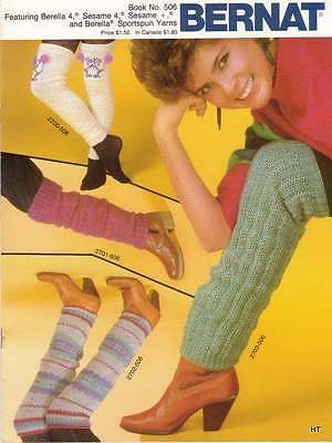 Leg Warmers By Bernat~Children To Adult 8 Sets