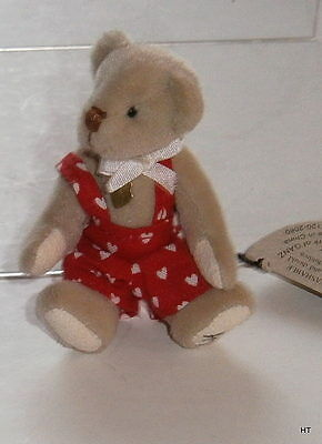 """Ganz Cottage Collectible  Fully Jointed Plushminiature Bear """"terry"""" Artist Lynda"""