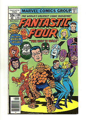 Fantastic Four Vol 1 No 190 Jan 1978 (VFN) Marvel, Bronze Age (1970 - 1979)