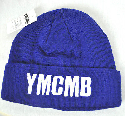 2a01303180f NEW YMCMB YOUNG MONEY men women casual fashion BEANIE hat BLUE WHITE  ONE