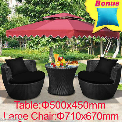 Outdoor Furniture Wicker Lounge Setting Table Chairs Garden Patio Pool BBQ