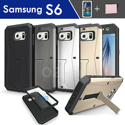 Samsung Galaxy S6 G9200 Case Cover Builtin Kick Stand with screen protector