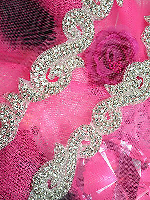 XR130 Crystal Rhinestone Trim Silver Beaded ~ Sewing Crafts @ Glory's House :)