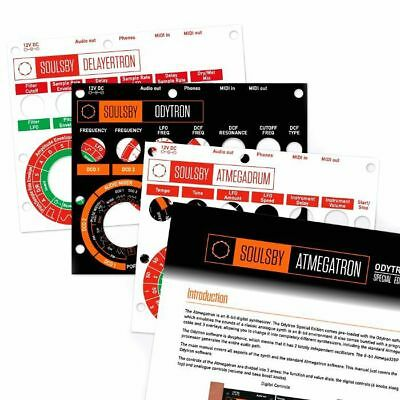 Soulsby Atmegatron Accessories Pack (includes programmer cable, 3 overlays & ...