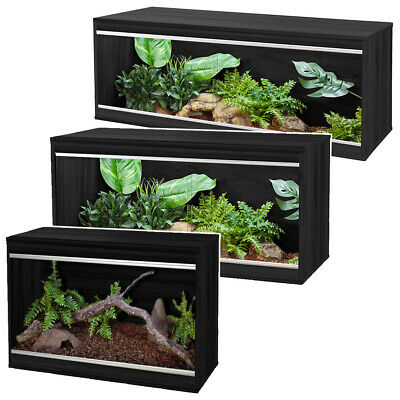 Vivexotic Black Viva Repti Home Wooden Vivarium Reptile Snake Lizard Viv Housing