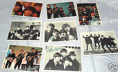 8 BEATLES Puzzle Postkarten Rock n Roll Pop Music Signatur Black & White BW