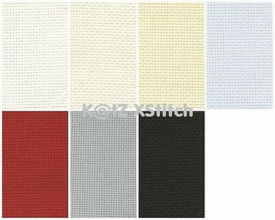 DMC 14 COUNT AIDA CROSS STITCH FABRIC, Various Colours / Various Sizes*