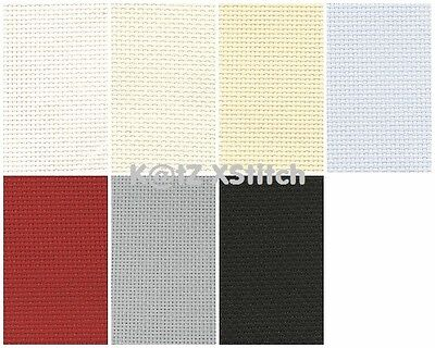 DMC AIDA CROSS STITCH FABRIC - 14ct, Various Colours / Various Sizes*
