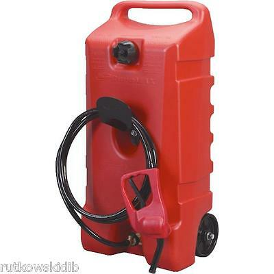 Scepter Flo N' Go 14-Gallon Wheeled Red Durmax Fuel Container with Pump