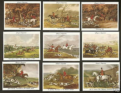 Players cigarette cards - OLD HUNTING PRINTS - mint condition full set