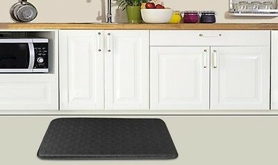 Anti Fatigue Mat High Impact Foam Cushioned Mat With Non Slip Back Black or Red