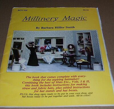 Vintage Millenery Magic Sewing In Miniature Craft Book 1983 Boynton How To Make