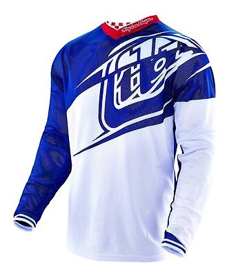 New 2016 Troy Lee Designs Gp Air Flexion Mx Jersey Navy/ White Size Large Lg L