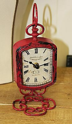 Clock Fuchsia Red Grand Hotel Vintage Paris Vintage Look Home Decor