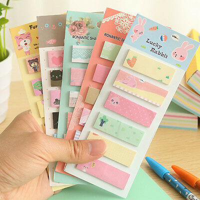Cute 160 Pages Sticker Post It Bookmark Point Marker Memo Planner Sticky Notes