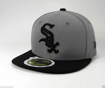 NEW ERA 59Fifty Youth Kids Cap Chicago White Sox Storm Gray Fitted Hat