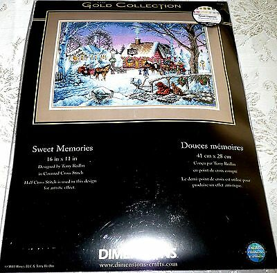 """Dimensions Gold Collection Counted Cross Stitch Kit SWEET MEMORIES 16"""" x 11"""""""