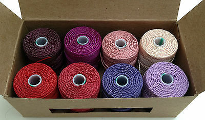 C-Lon Heavy Weight Bead Cord 0.9mm Selection Gift Box - RED/PURPLE jewellery