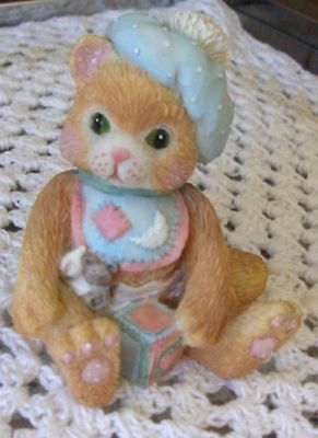 "Calico Kitten By Enesco  ""a Bundle Of Love""  Numbered"