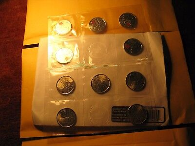 Canada War Of 1812 Salaberry 10 Quarters Pack Rcm Plain And Red Mint Set
