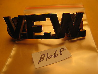 Military V.f.w Metal Badge Shown N The Pictures Don't Know About It Id#b1068