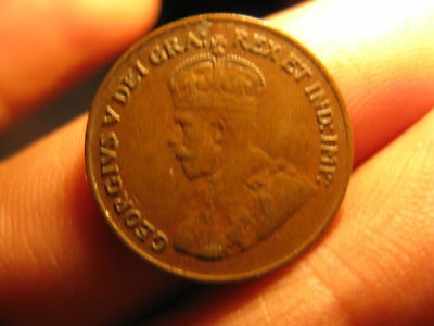1927 Canada Rare Key Date Penny Small Cent Coin.