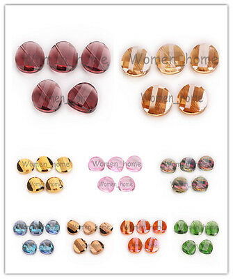 Bulk 18mm Charms Faceted Twist Tile Glass Crystal Loose Spacer Beads 27 Colors
