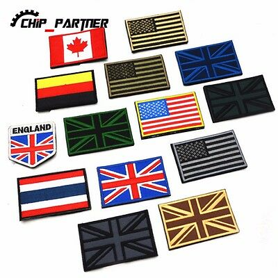 Embroidered Cloth Armband Magic Stickers Countries Flags  Standard Customized